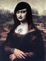 Mona Lisa en plan emo.